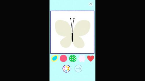 Coloring screenshot of Florence video game interface.