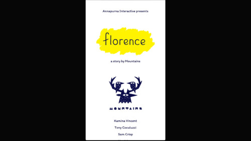 Credits screenshot of Florence video game interface.