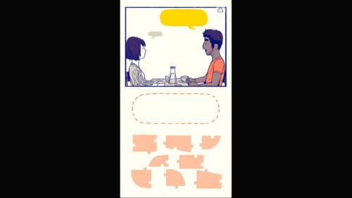 Dialogue Puzzle screenshot of Florence video game interface.
