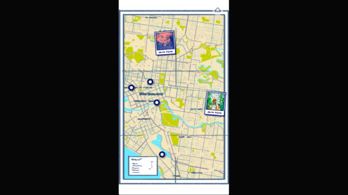 Map with Polaroids screenshot of Florence video game interface.