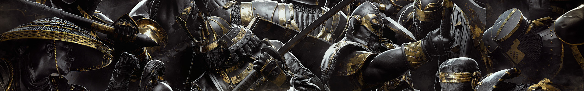 Banner media of For Honor video game.