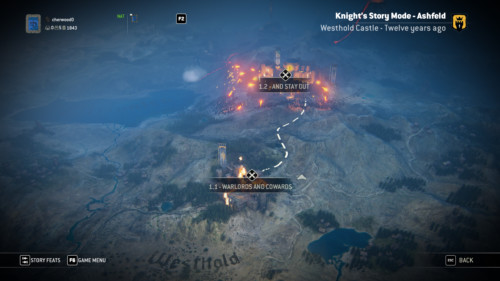 Select level screenshot of For Honor video game interface.