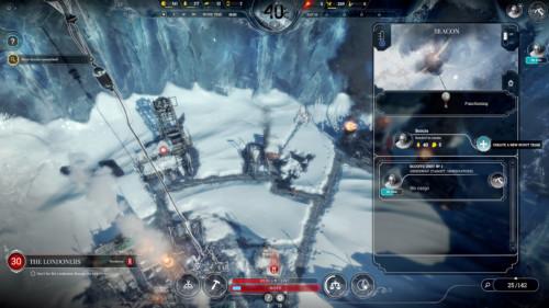 Beacon screenshot of Frostpunk video game interface.