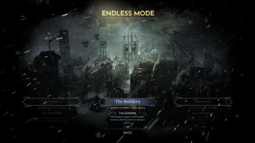 Endless mode screenshot of Frostpunk video game interface.