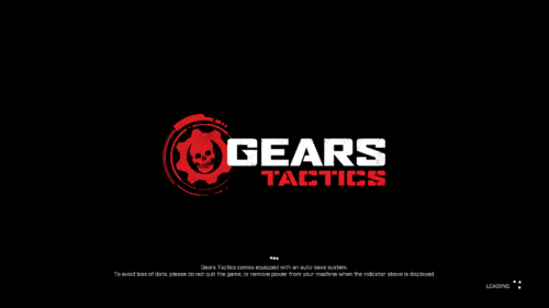 Autosave screenshot of Gears Tactics video game interface.