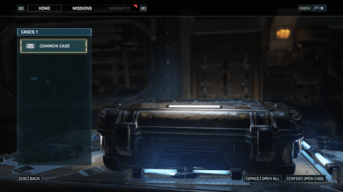 Cases screenshot of Gears Tactics video game interface.