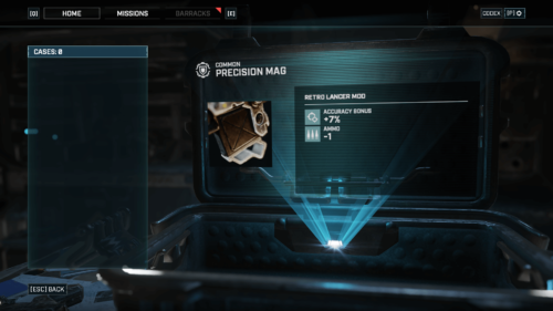 Cases Loot screenshot of Gears Tactics video game interface.