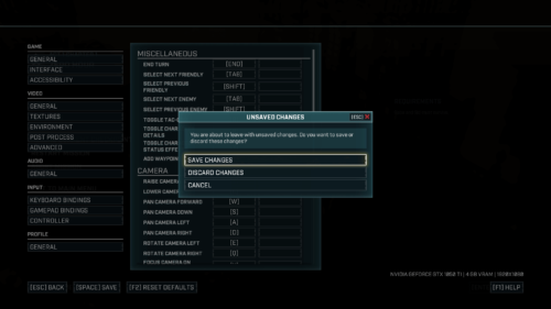 Confirmation screenshot of Gears Tactics video game interface.