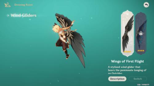 Dressing Room screenshot of Genshin Impact Mobile video game interface.