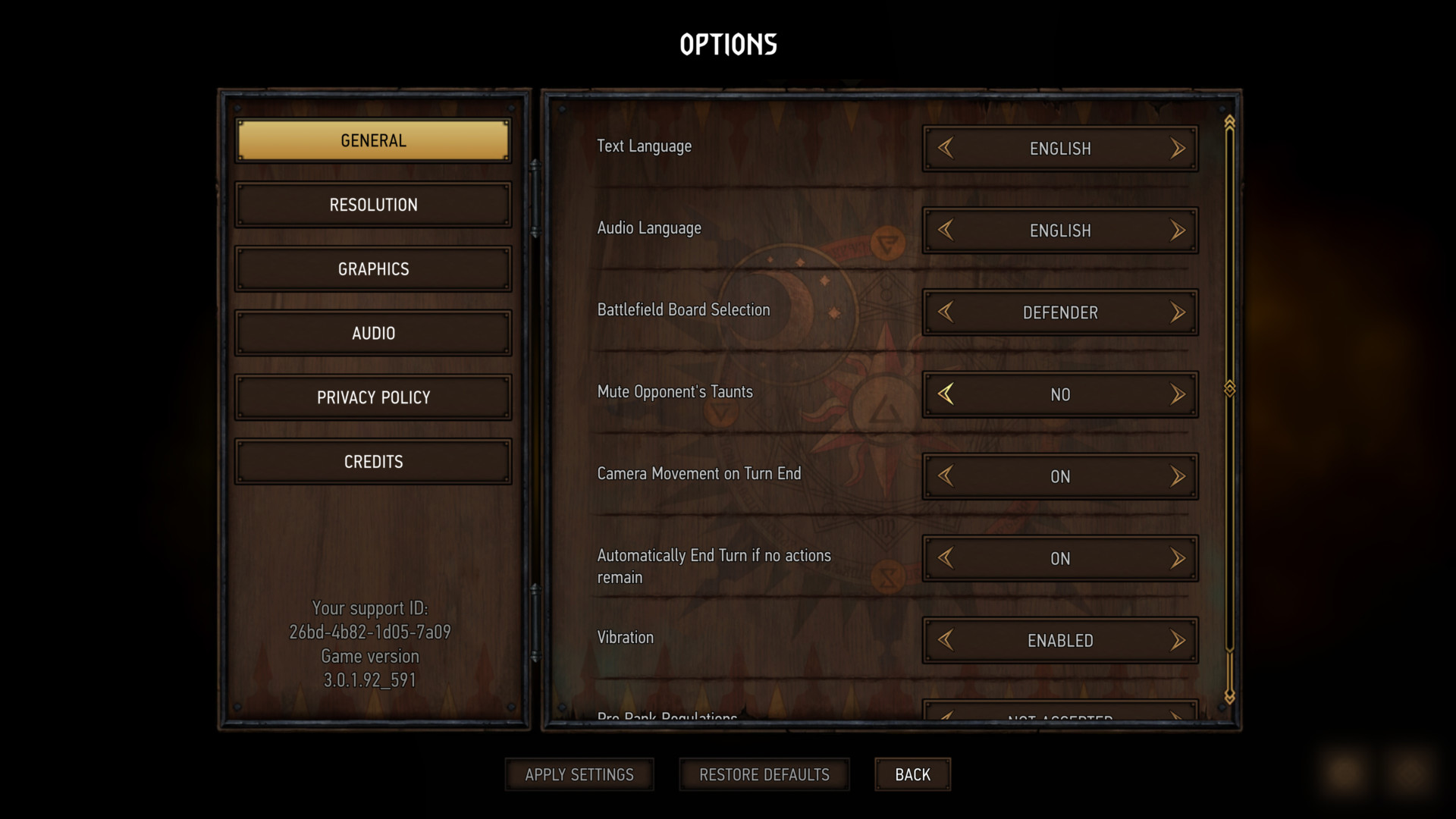 General screenshot of Gwent: The Witcher Card Game video game interface.