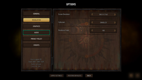 Resolution screenshot of Gwent: The Witcher Card Game video game interface.