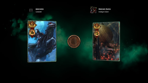 Versus screenshot of Gwent: The Witcher Card Game video game interface.