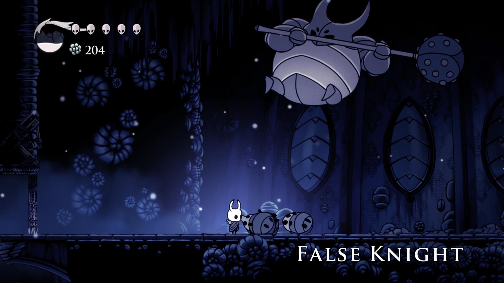 Boss screenshot of Hollow Knight video game interface.