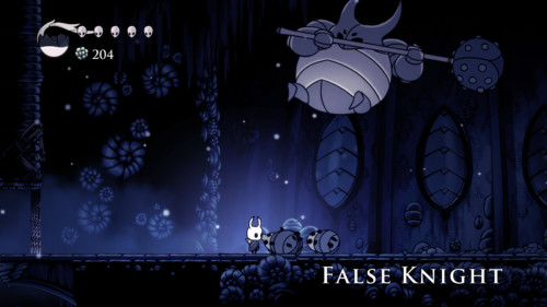 Boss screenshot of Hollow Knight video game interface.