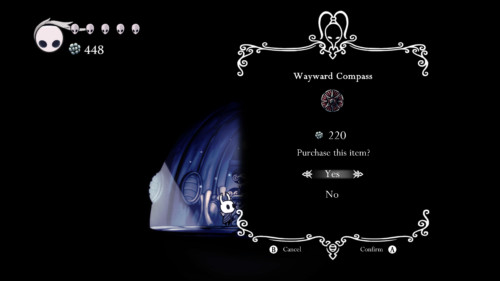 Purchase this item screenshot of Hollow Knight video game interface.