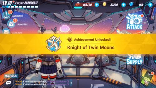 Achievement Unlocked screenshot of Honkai Impact 3rd video game interface.