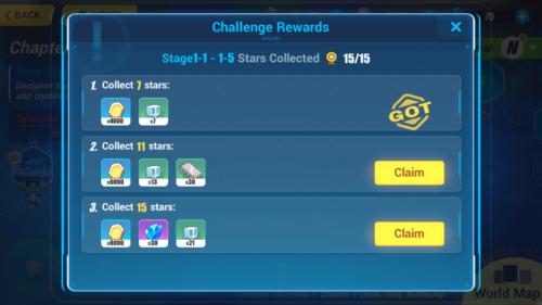 Challenge Rewards screenshot of Honkai Impact 3rd video game interface.