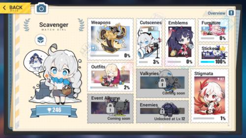 Collection screenshot of Honkai Impact 3rd video game interface.