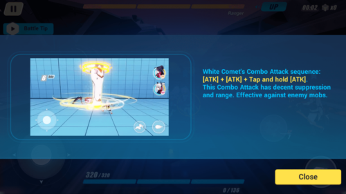 Combo Attack sequence screenshot of Honkai Impact 3rd video game interface.