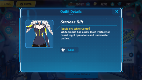 Outfit Details screenshot of Honkai Impact 3rd video game interface.