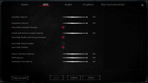 HUD screenshot of Hunt: Showdown video game interface.