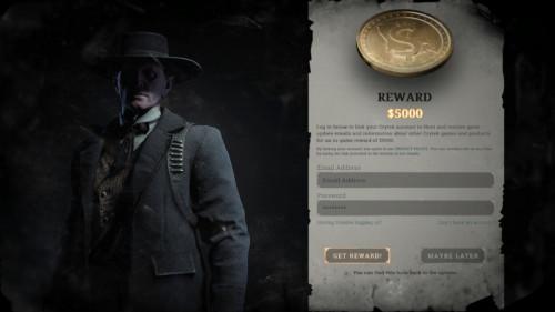 Reward screenshot of Hunt: Showdown video game interface.