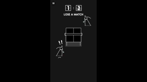 Lose Match screenshot of I'm Ping Pong King :) video game interface.