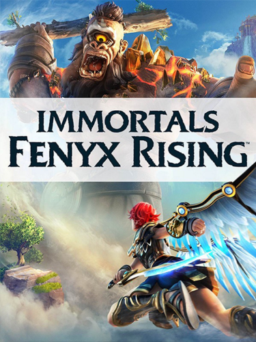 Cover media of Immortals Fenyx Rising video game.