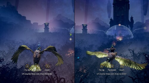 In-Game Prompts screenshot of It Takes Two video game interface.