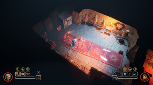 Isometric Gameplay screenshot of It Takes Two video game interface.