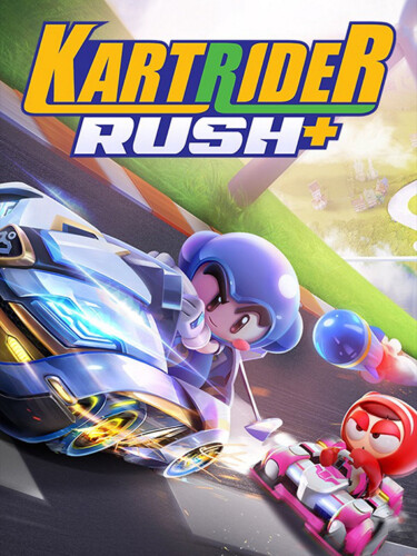 Cover media of KartRider Rush+ video game.