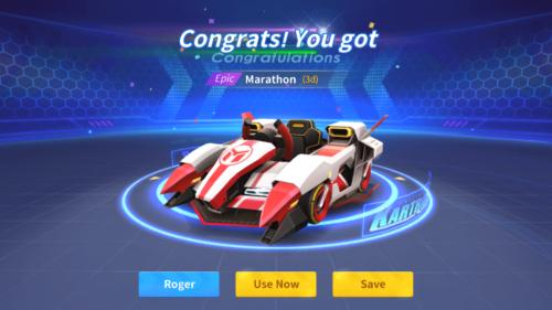 Epic kart screenshot of KartRider Rush+ video game interface.
