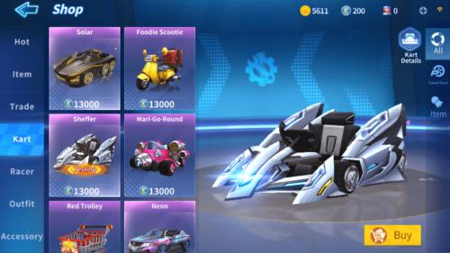 Kart screenshot of KartRider Rush+ video game interface.