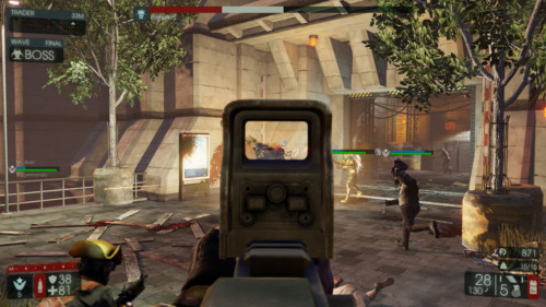 Boss fight screenshot of Killing Floor 2 video game interface.