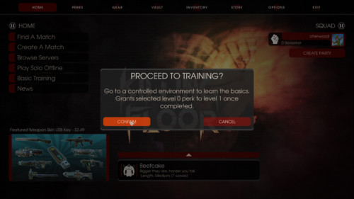 Confirm screenshot of Killing Floor 2 video game interface.
