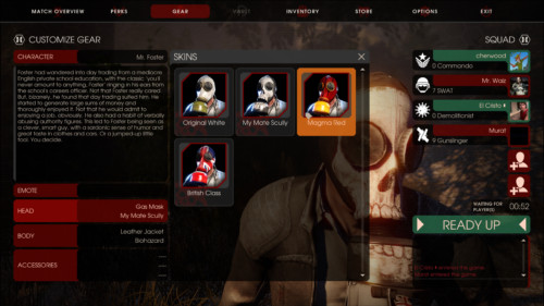 Customize gear screenshot of Killing Floor 2 video game interface.