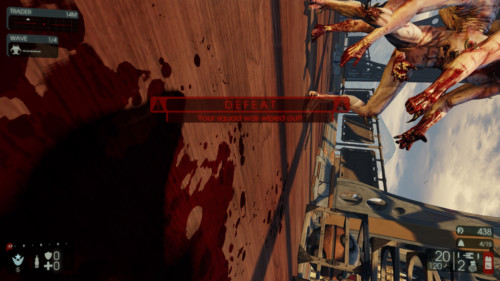 Defeat screenshot of Killing Floor 2 video game interface.