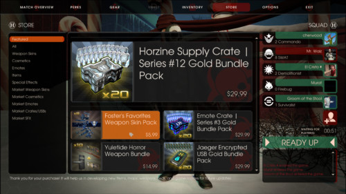 Featured screenshot of Killing Floor 2 video game interface.