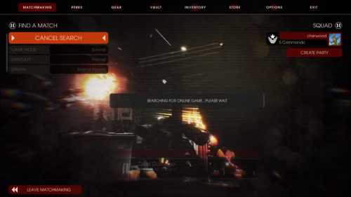 Find a match screenshot of Killing Floor 2 video game interface.