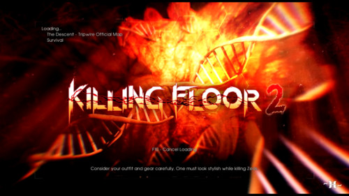 Loading level screenshot of Killing Floor 2 video game interface.