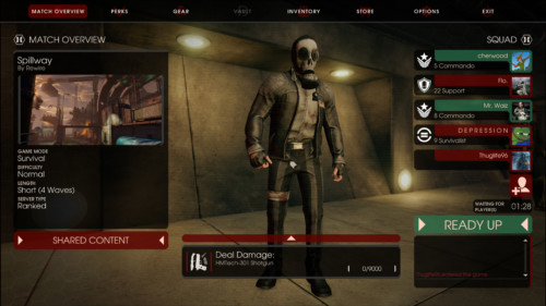 Match overview screenshot of Killing Floor 2 video game interface.