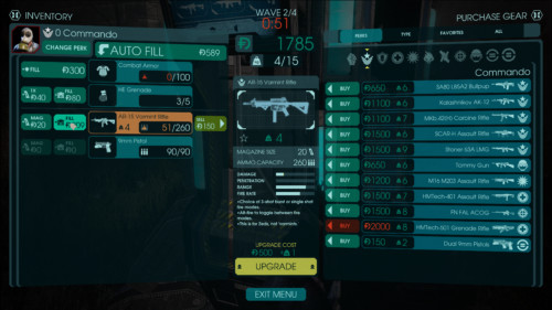 Upgrade gear screenshot of Killing Floor 2 video game interface.