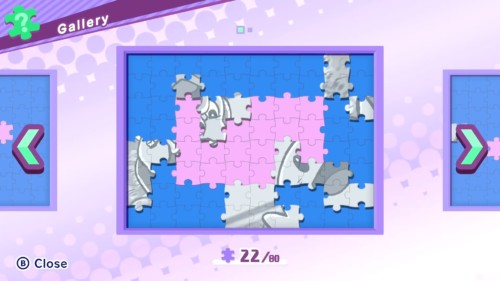 Gallery screenshot of Kirby Star Allies video game interface.