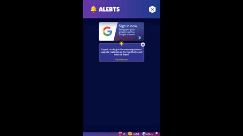 Alerts screenshot of Knighthood video game interface.