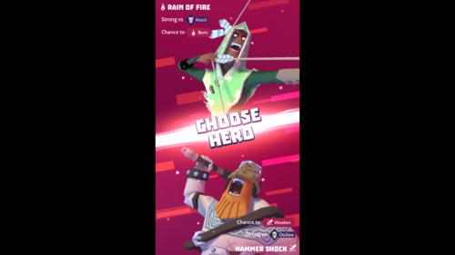 Choose hero screenshot of Knighthood video game interface.