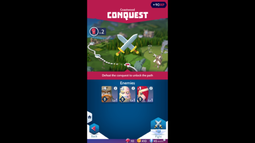 Conquest screenshot of Knighthood video game interface.