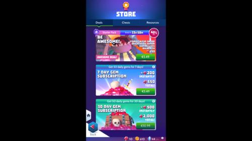 Deals screenshot of Knighthood video game interface.