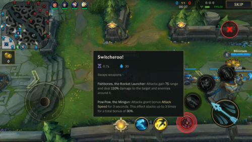Ability information screenshot of League of Legends: Wild Rift video game interface.