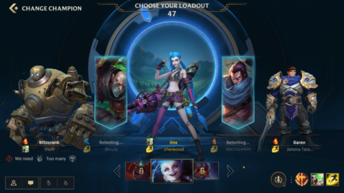 Choose your loadout screenshot of League of Legends: Wild Rift video game interface.