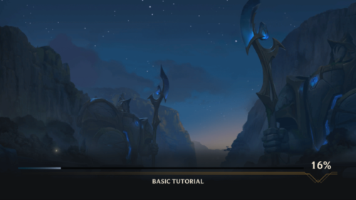 Tutorial loading screenshot of League of Legends: Wild Rift video game interface.